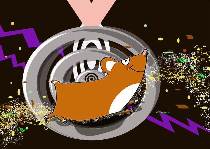 Hamster-gymmet!