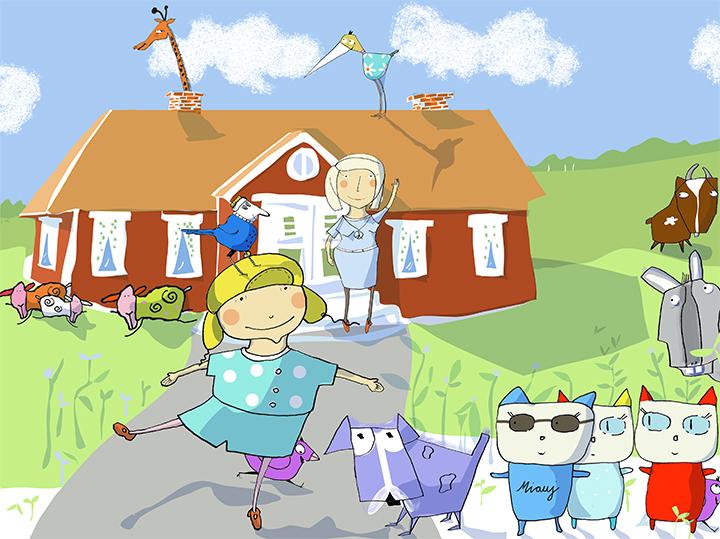 Bubba  Boken om Bubba handlar om Bubba och hennes mamma Viola.  Bubba och mamma älskar djur. Dom bor tillsammans med hur många djur som helst; Alla djur är välkomna, och alla tas kärleksfullt om hand!  Bubba löser till slut gåtan var djurens favoritmat har tagit vägen.  Bubba och mamma förmedlar hur viktigt det är att vänligt och omsorgsfullt, ta hand om våra djur. Det finns ljud och små animerade filmer i boken.