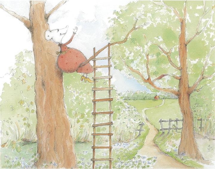 Illustration från Linas Månadsbok. Margareta Fridén. B Wahlström 2007