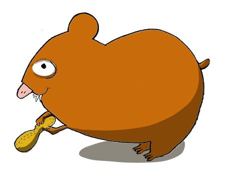 Min hamster gilla jordnötter!