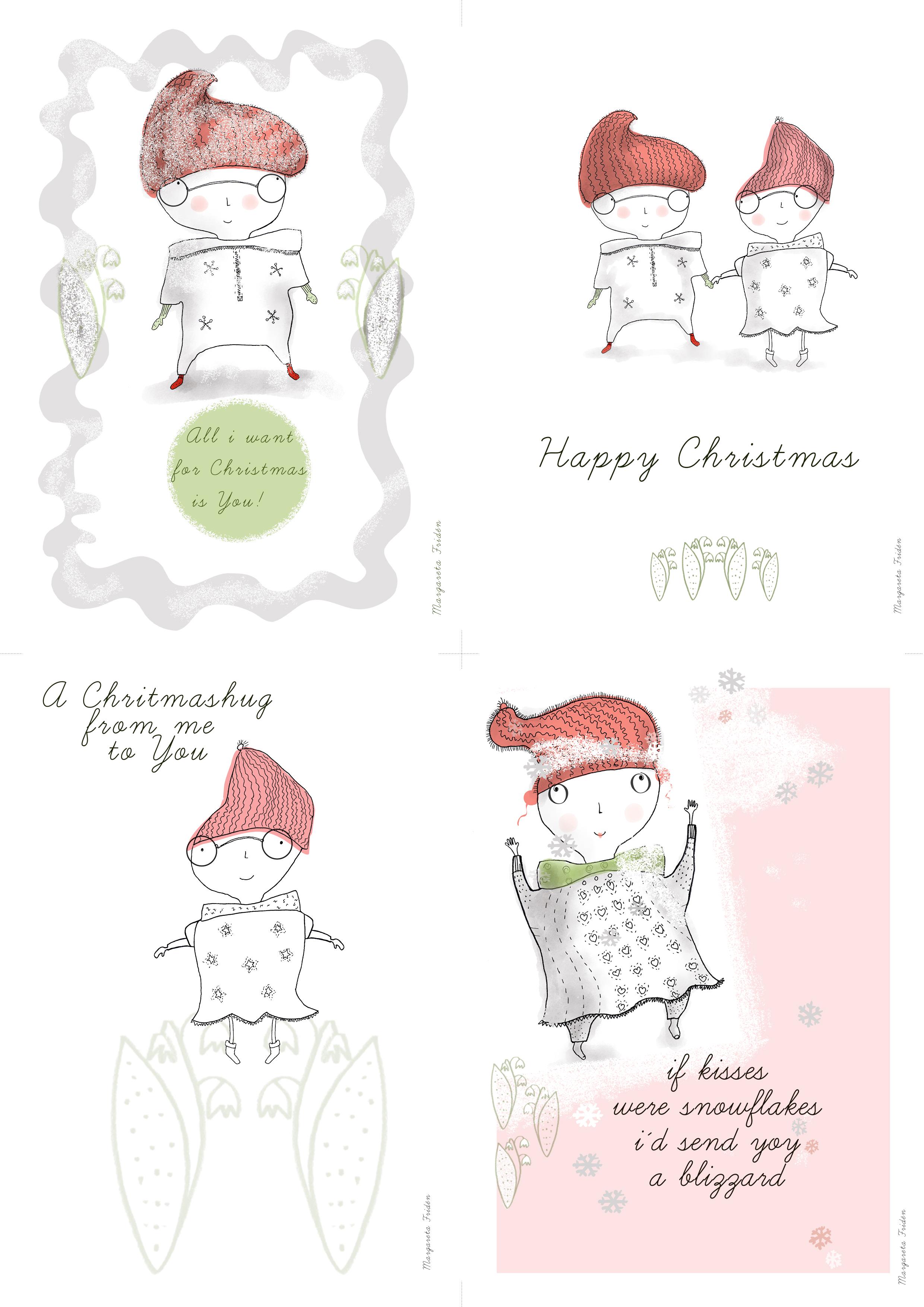 Julkort Christmas Card @margaretafriden.se