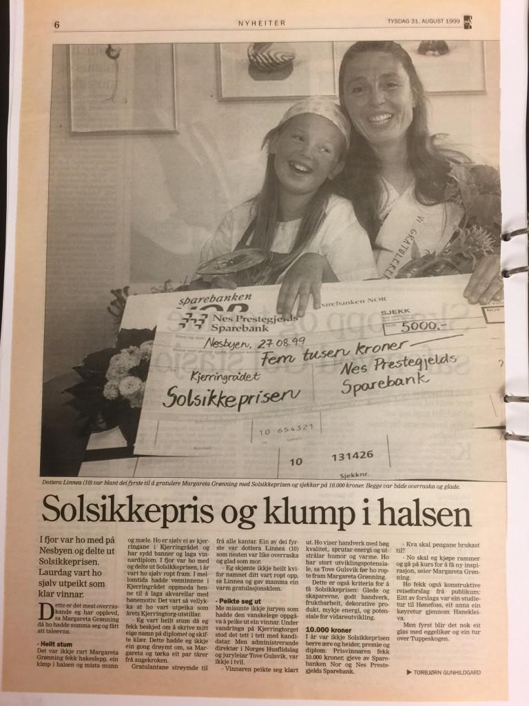 Solsikkeprisen 1999- HALLINGDOLEN