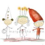 Julkort 1. Stjärngosse, Lucia och Tomte-margaretafriden.se