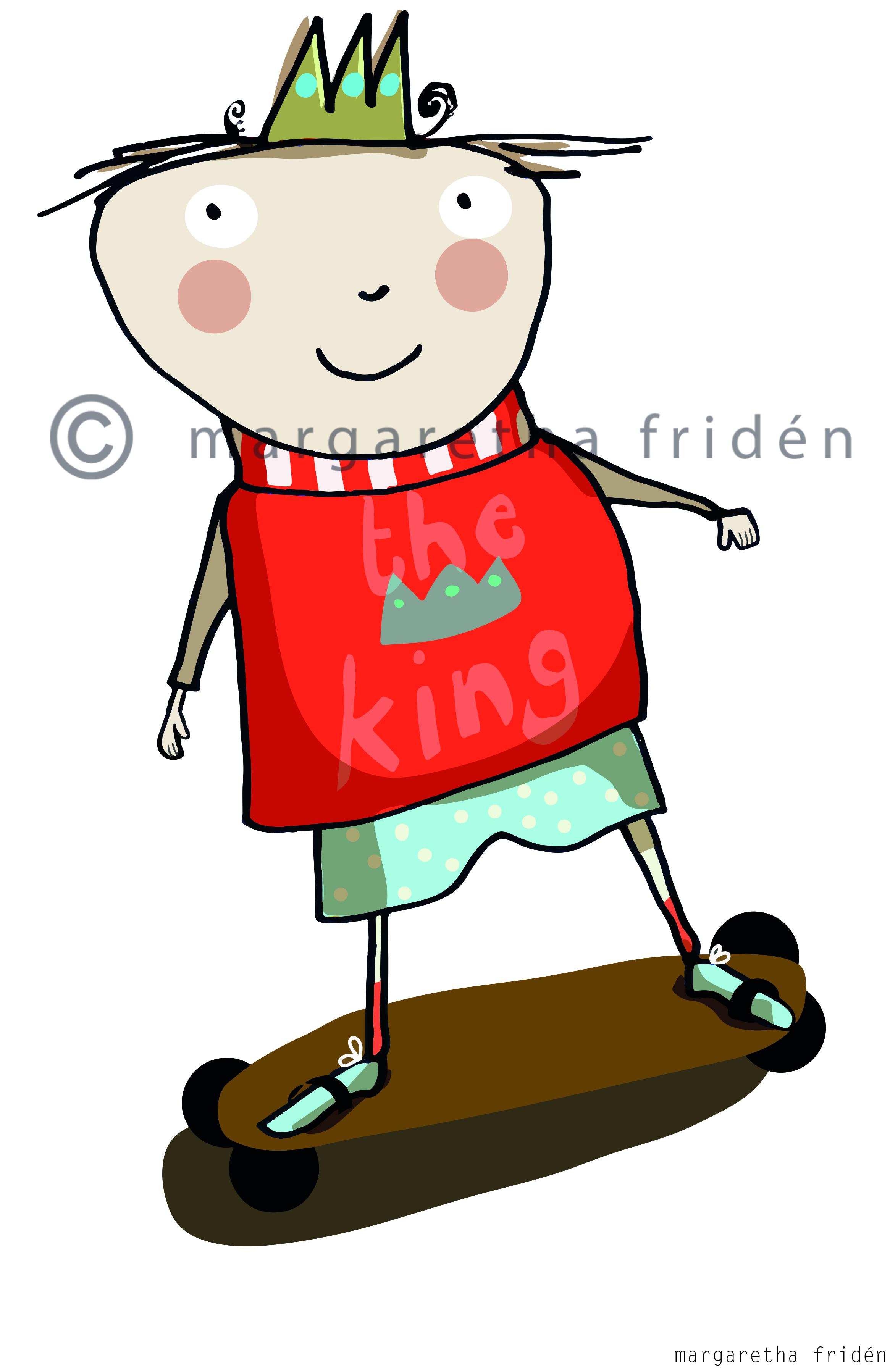 Vykort 9. The King- margaretafriden.se