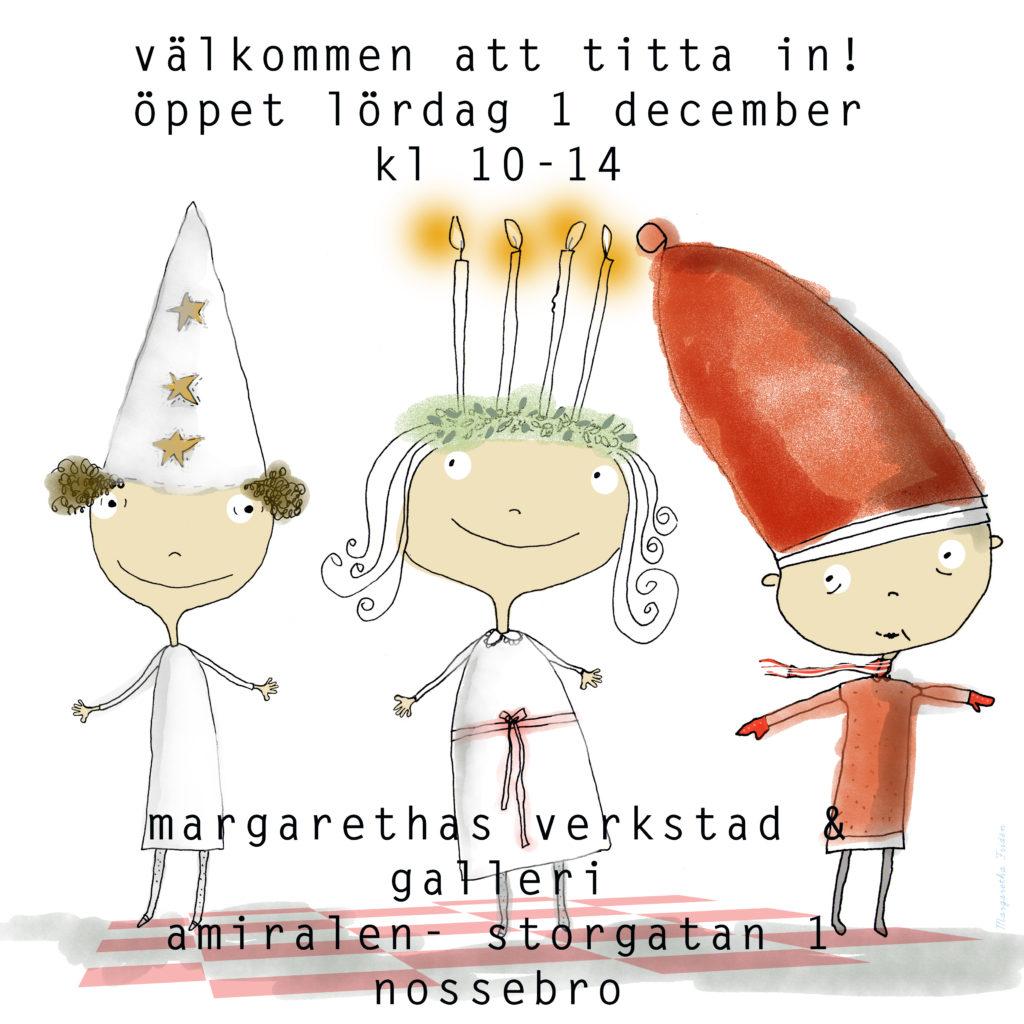 Välkommen till Margarethas verkstad och galleri i Nossebro